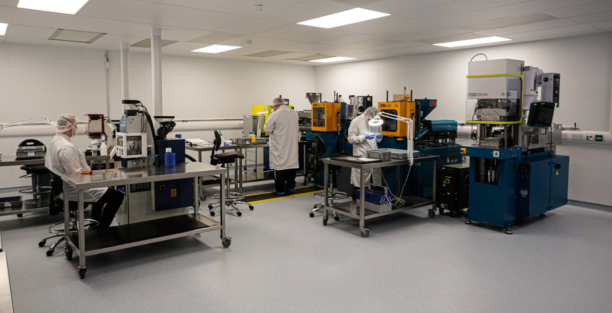 Cleanroom facilities at Arrotek