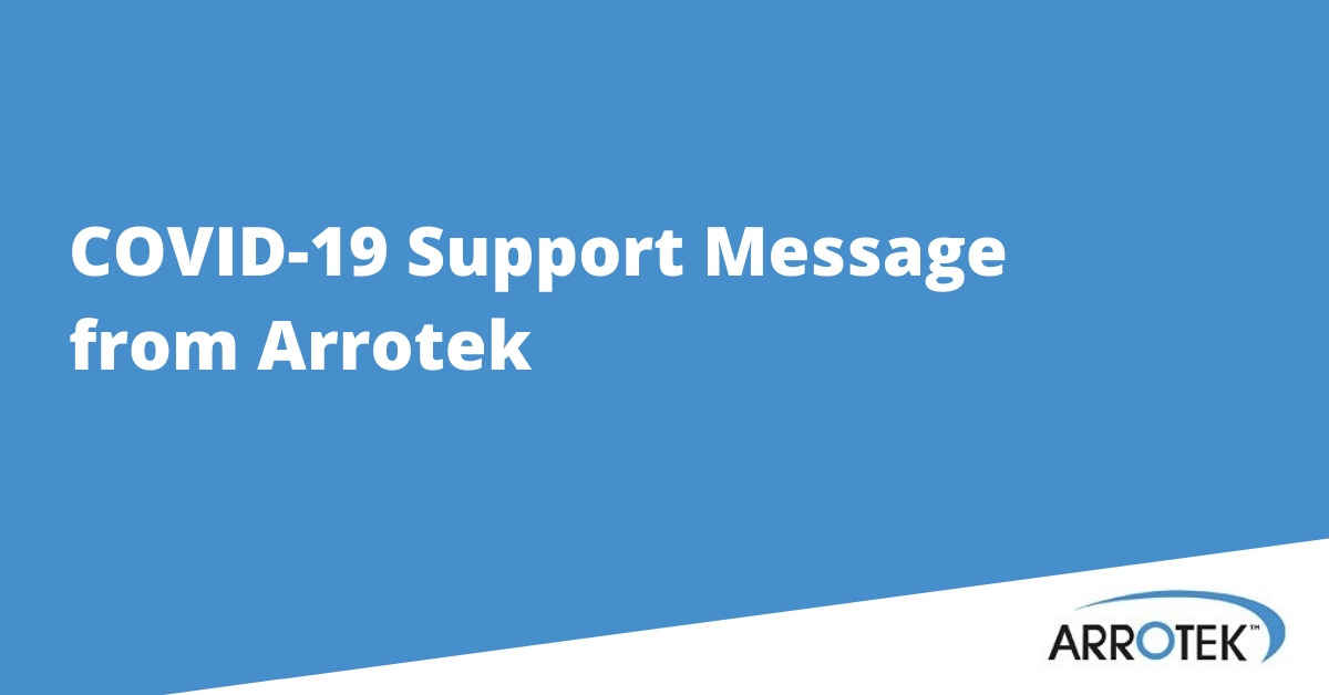 COVID-19 Support Message from Arrotek