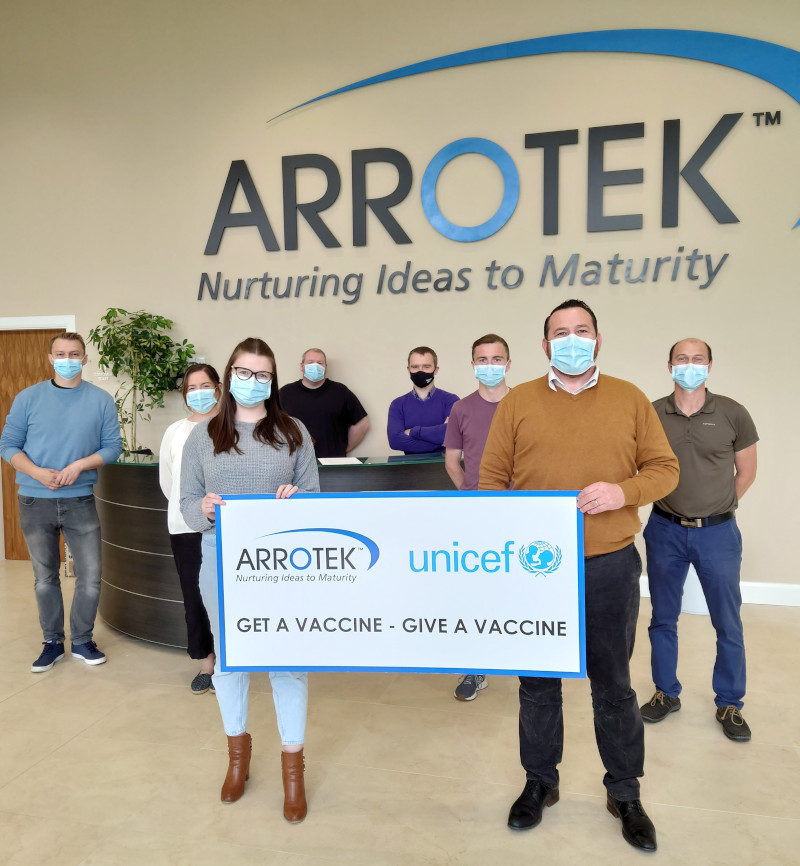 Arrotek Team Supporting UNICEF's Get a Vaccine, Give a Vaccine